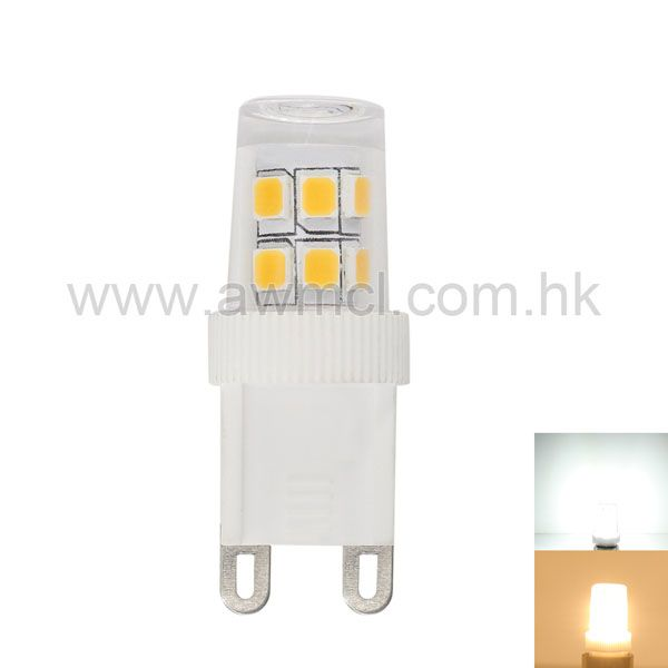 G9 Base LED Bulb Mini Size 15*SMD2835 Chip  2W AC 230V Lamp  6Pack