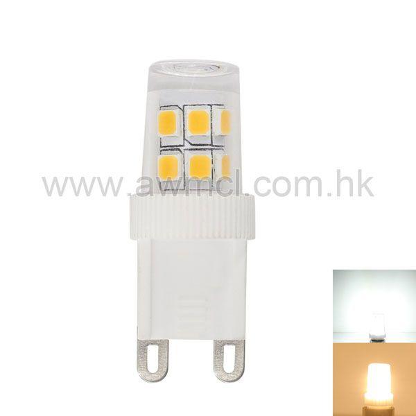 G9 Base LED Bulb Mini Size 15*SMD2835 Chip  2W AC 230V Lamp  6Pack