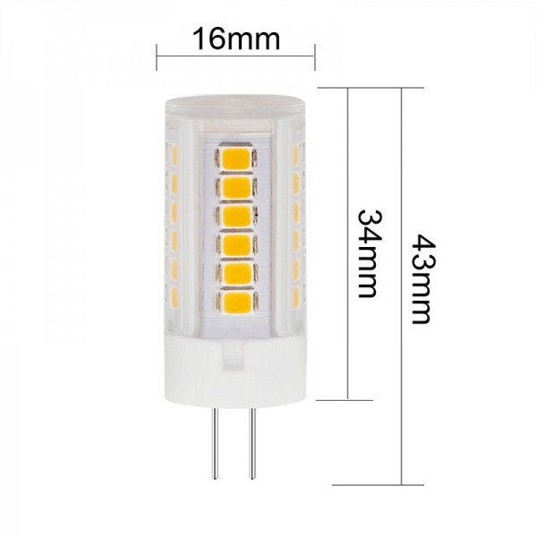 LED Bulb G4 SMD2835*45 Chip  3.5 W AC120V or 230V Lamp High Voltage 6Pack