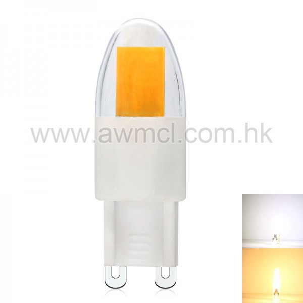 LED G9 Bulb 2.5 W AC 120 or 230V Epistar COB Chip