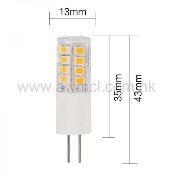 LED Bulb G4 LED  3W AC DC 12V Light CE & RoHS certificate RA90 6Pack