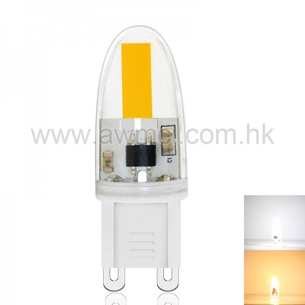LED G9 Bulb 1.6W  AC 230V Epistar COB Chip