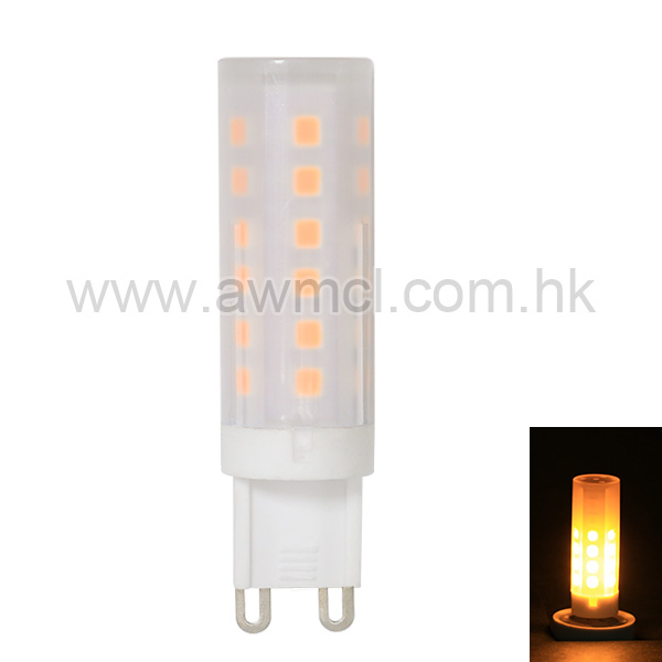 Factory Price Decorative Lamp G9 LED Flame Effect Light , IP65 Flame Light Bulb 6Pack
