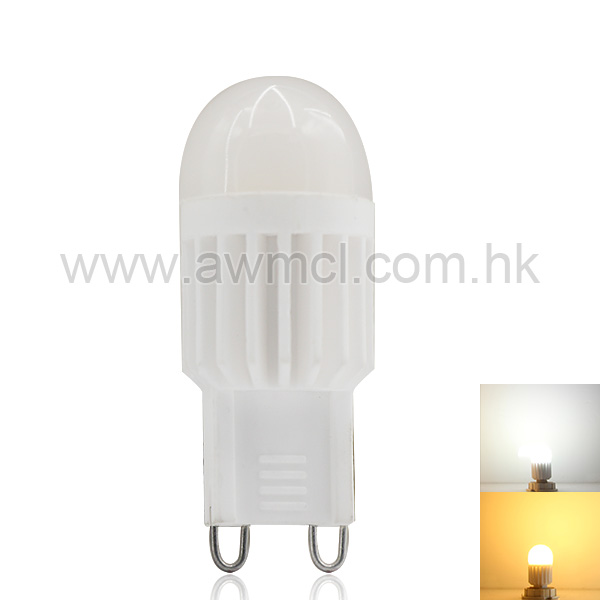 LED Ceramic Bulb G9 3W  AC120V or AC230V Light ETL 6Pack
