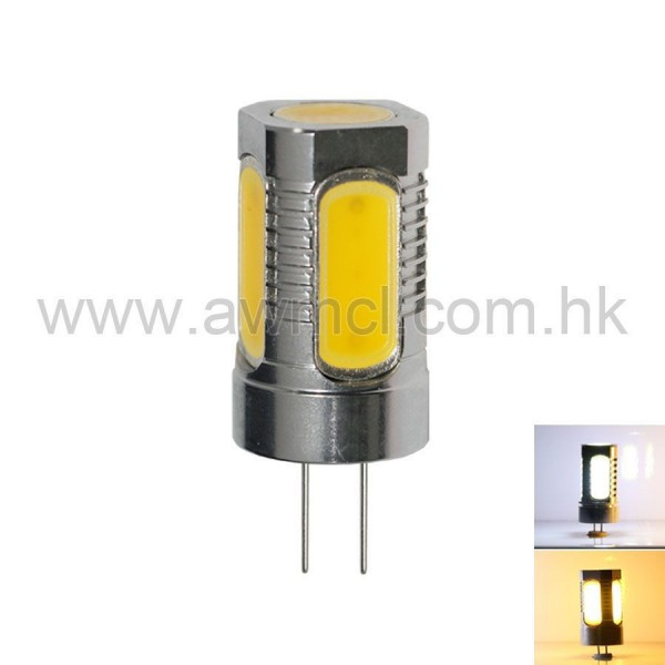 Aluminum LED G4 7.5W 5 PCS COB ACDC 12V Light 6Pack