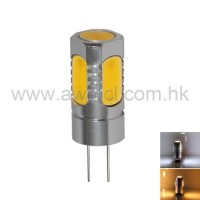 Aluminum LED G4 5W 5PCS COB DC 12V Light 6Pack