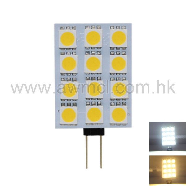 PCB LED Light G4 2W 12PCSx5050 SMD DC12V Light 6Pack