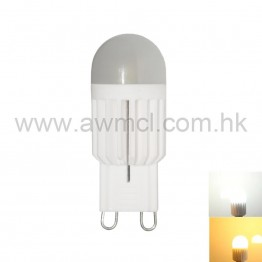 LED Ceramic Bulb G9 3W 1 PCS COB AC120V or AC230V Light ETL