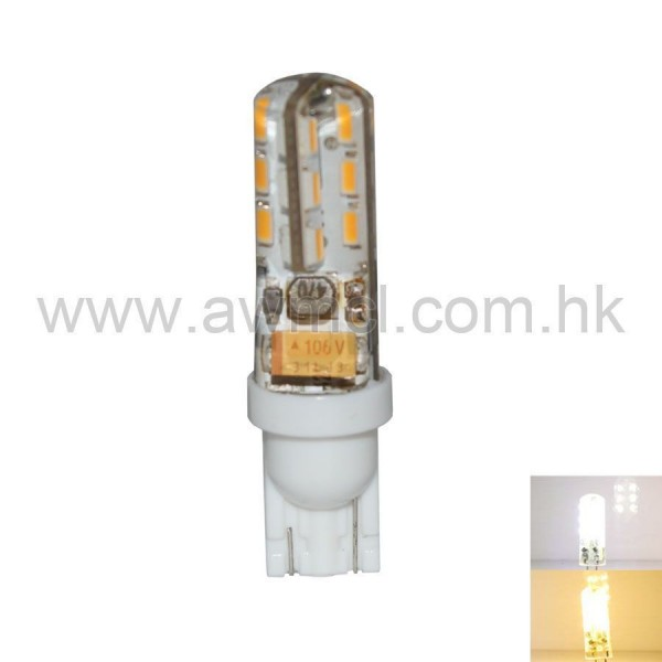 LED Corn Bulb T10 1.5W 24x3014 SMD 2700-3200K/6000-7000K AC DC 12V Light
